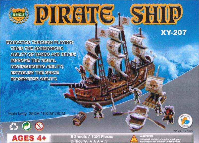 3D puzzle - Pirátská loď