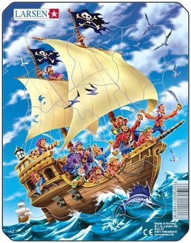 LARSEN Puzzle Pirátská loď 8 dílků