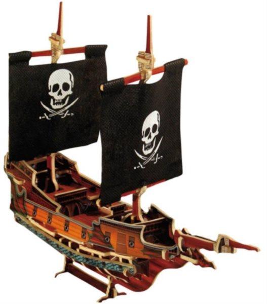 SMALL FOOT 3D puzzle Pirátská loď II. barevná
