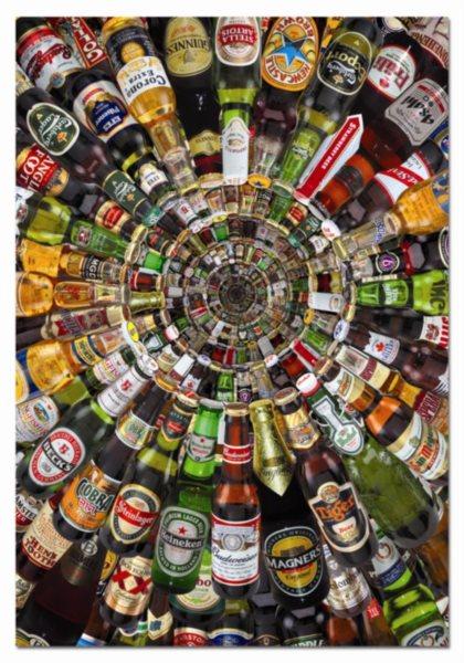 Puzzle EDUCA 1500 dílků - Pivní tunel (+lepidlo)