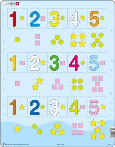 LARSEN Puzzle Počítání do pěti 15 dílků