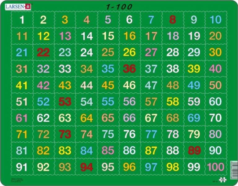 LARSEN Puzzle Počítání do 100 - 100 dílků