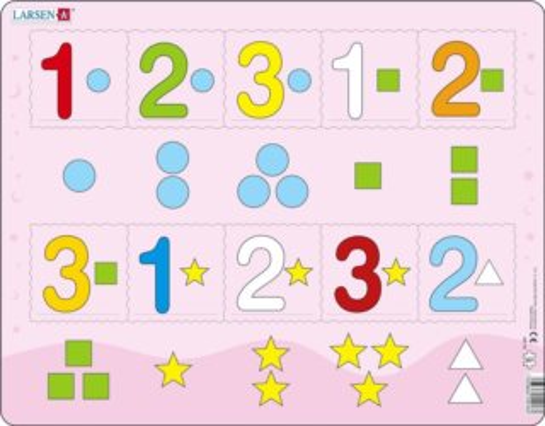 LARSEN Puzzle Počítání do tří 10 dílků