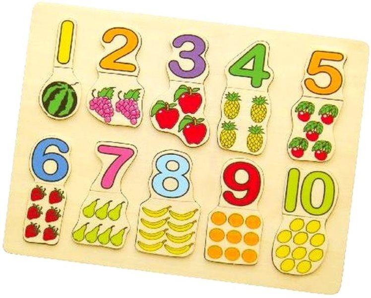STUDO WOOD Vkládačka Počítání s ovocem 20 dílků