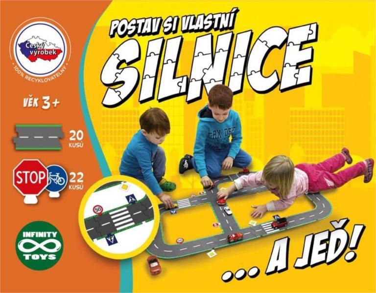 Podlahové hrací puzzle Postav si vlastní silnice 42 dílků