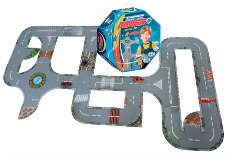 Podlahové puzzle - hrací plocha Silnice