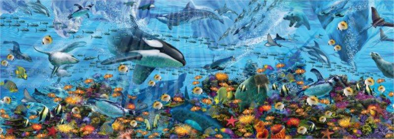 DINO Panoramatické puzzle Podmořská fantazie 6000 dílků