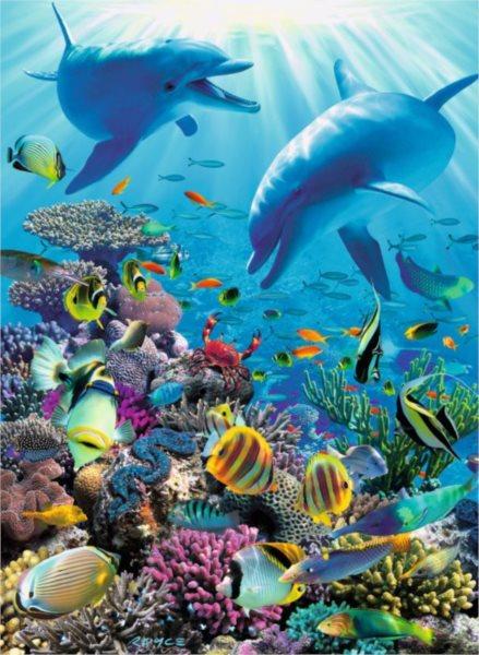 Puzzle RAVENSBURGER 300 dílků - R.B. McClure: Podmořské dobrodružství