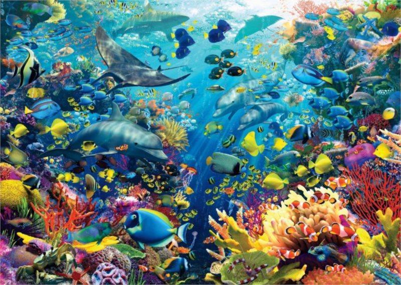 Puzzle RAVENSBURGER 9000 dílků - D.Penfound, Podmořský ráj