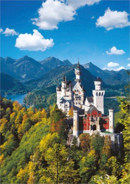 Puzzle RAVENSBURGER 1000 dílků - Podzimní Neuschwanstein