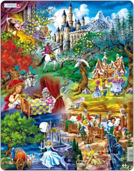 LARSEN Puzzle Pohádky bratří Grimmů 33 dílků