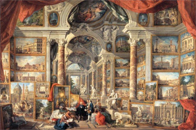 RAVENSBURGER Puzzle Pohled na moderní Řím 5000 dílků