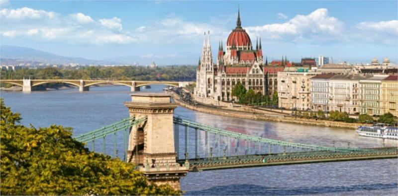 Puzzle CASTORLAND 4000 dílků - Pohled přes Dunaj