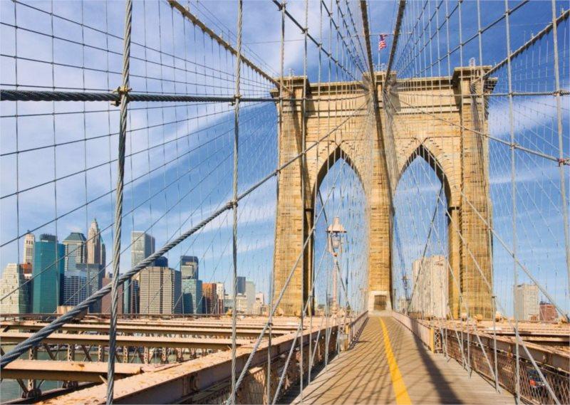 Puzzle RAVENSBURGER 1000 dílků - Pohled z Brooklynského mostu