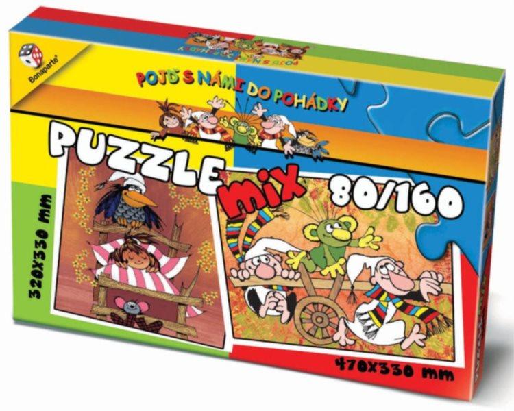 BONAPARTE Puzzle Pojď s námi do pohádky 80 + 160 dílků