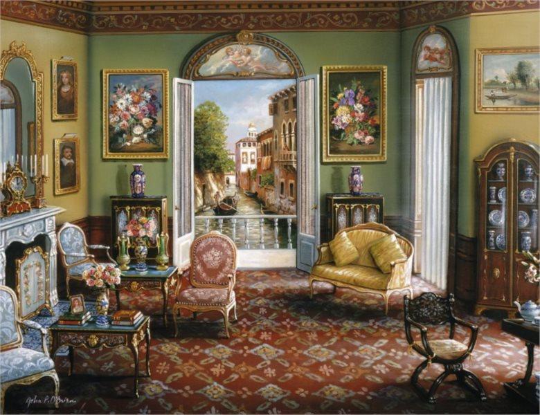 RAVENSBURGER Puzzle Pokoj s výhledem 2000 dílků