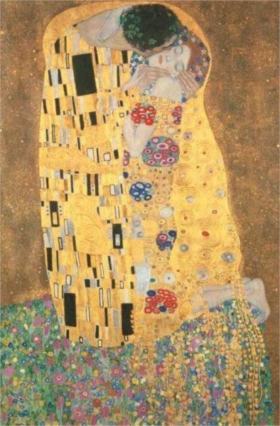 Puzzle CLEMENTONI 1000 dílků - Klimt, Polibek