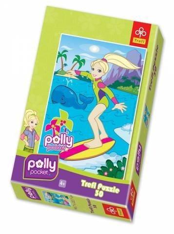 Puzzle pro děti TREFL 30 dílků - Polly Pocket: Na surfu