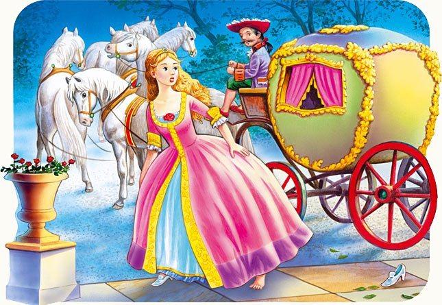Dětské puzzle 30 dílků - Popelka, CASTORLAND