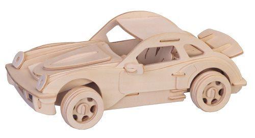 WOODEN TOY , WCK 3D puzzle Porsche