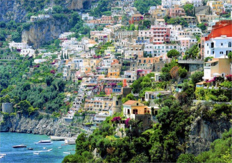 DINO puzzle 500 dílků - Positano, Provincie Salerno, Itálie