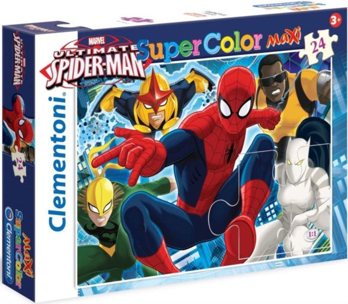 CLEMENTONI Puzzle Spiderman: Bojovník MAXI 104 dílků