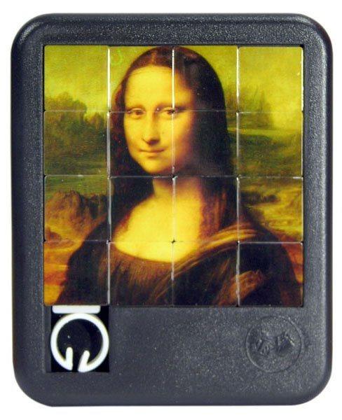 Posuvné puzzle Mona Lisa 4x4
