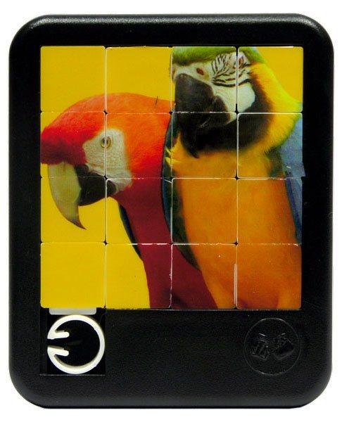 Posuvné puzzle Papoušci 4x4