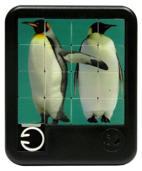 Posuvné puzzle Tučňáci 4x4
