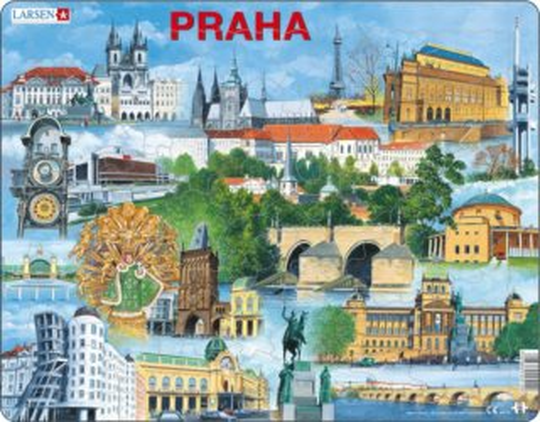 LARSEN Puzzle Praha 66 dílků