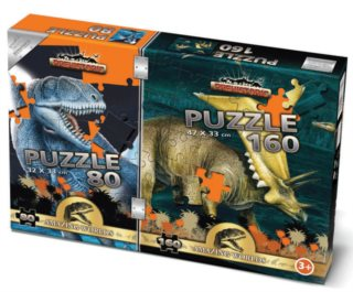 BONAPARTE Puzzle Prehistoric 80 + 160 dílků