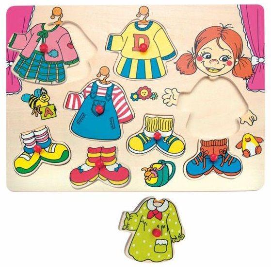 WOODY, Vkládačka Oblékání - holčička Carolina