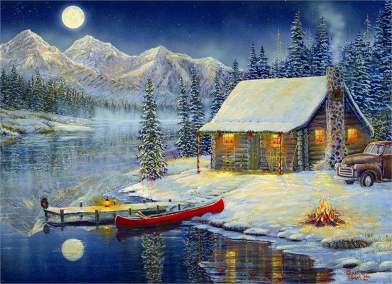 EUROGRAPHICS Puzzle Příjemný vánoční čas 1000 dílků