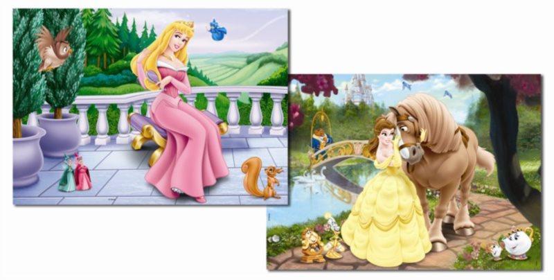 Dětské puzzle EDUCA - Princezna & Kráska a zvíře 2x48 dílků