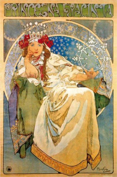Puzzle D-TOYS 1000 dílků - Alfons Mucha, Princezna Hyacinta