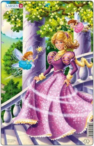LARSEN Puzzle Princezna s vílami 11 dílků