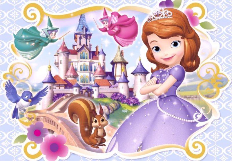 CLEMENTONI Puzzle Sofie První: Připravena být princeznou MAXI 104 dílků
