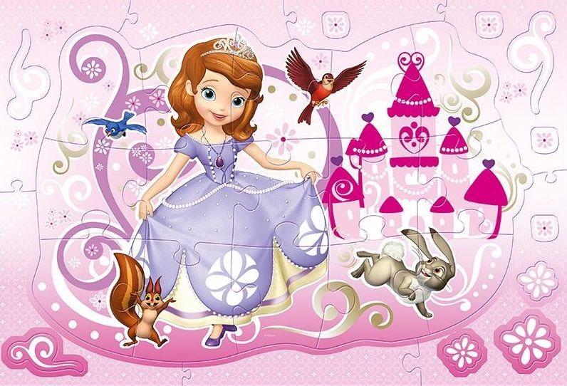 TREFL Svítící obrysové puzzle Princezna Sofie První 15 dílků