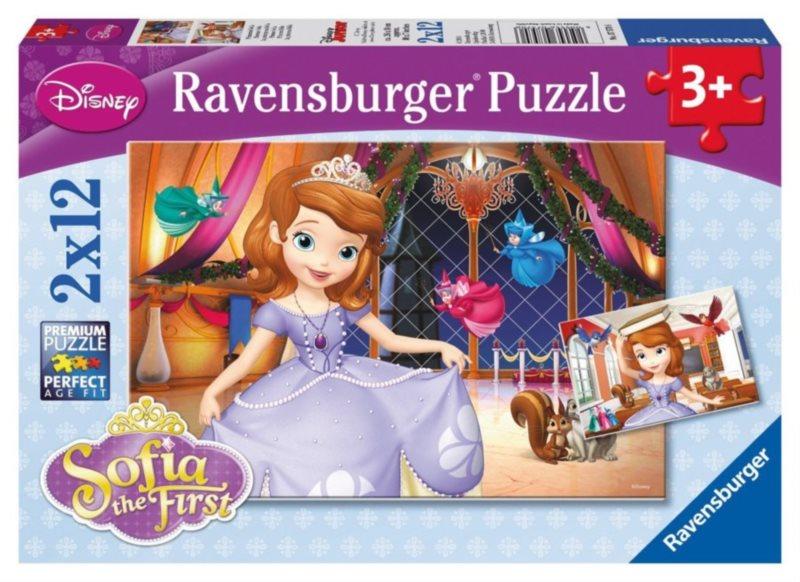 RAVENSBURGER Puzzle Princezna Sofie První 2x12 dílků
