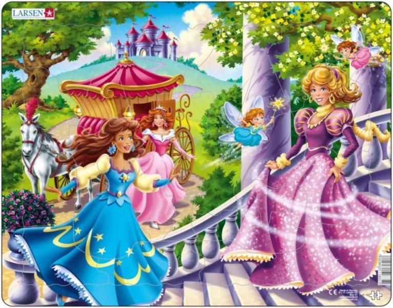 LARSEN Puzzle Princezny 24 dílků