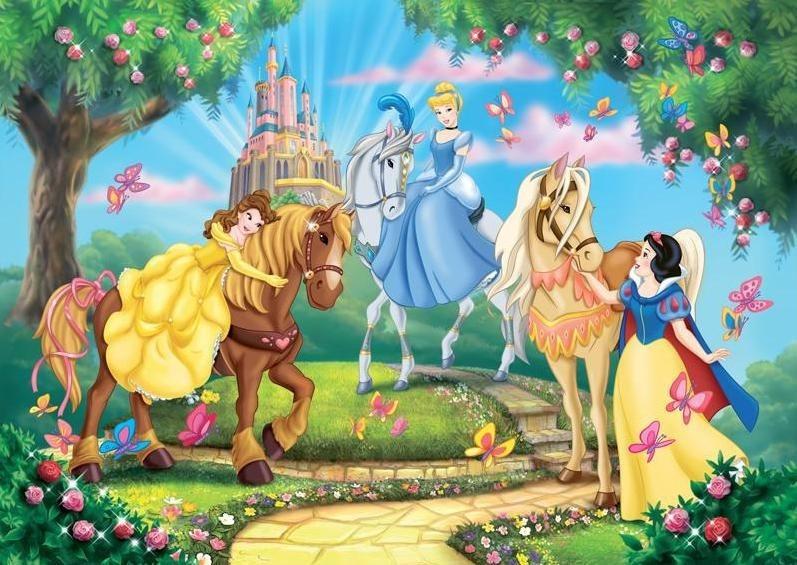 CLEMENTONI Puzzle Princezny: Na koních 104 dílků