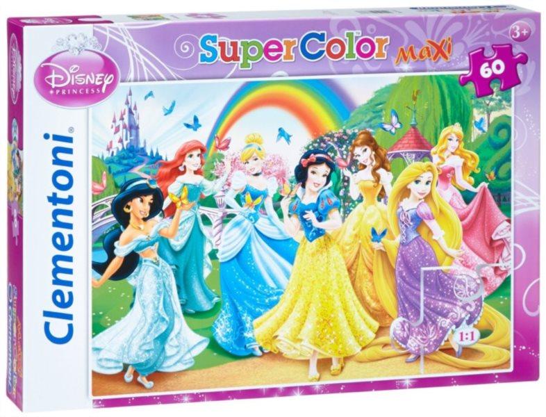 CLEMENTONI podlahové puzzle Nejkrásnější princezny 60 dílků
