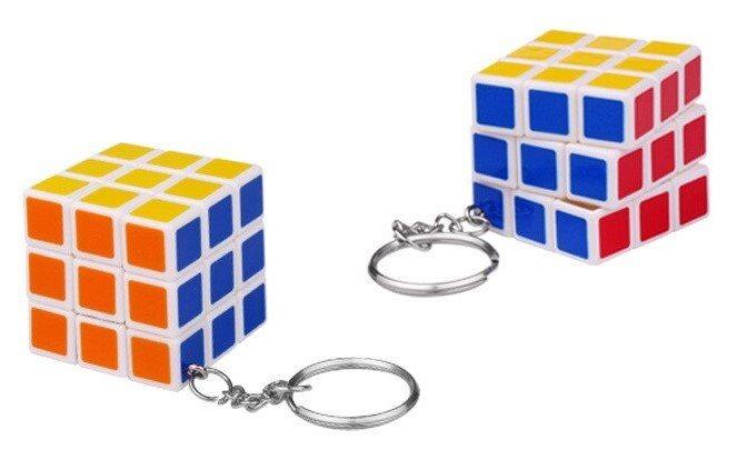 Přívěsek na klíče magická kostka 3x3 (3,5cm)