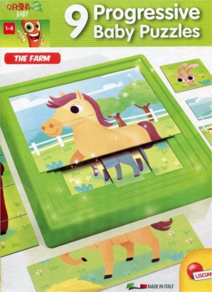 LISCIANI Progresivní puzzle Farma 9v1
