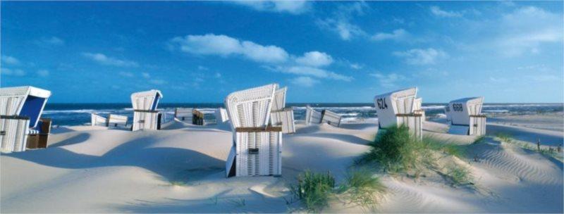 Puzzle RAVENSBURGER 1000 dílků - Proutěná křesla na pláži
