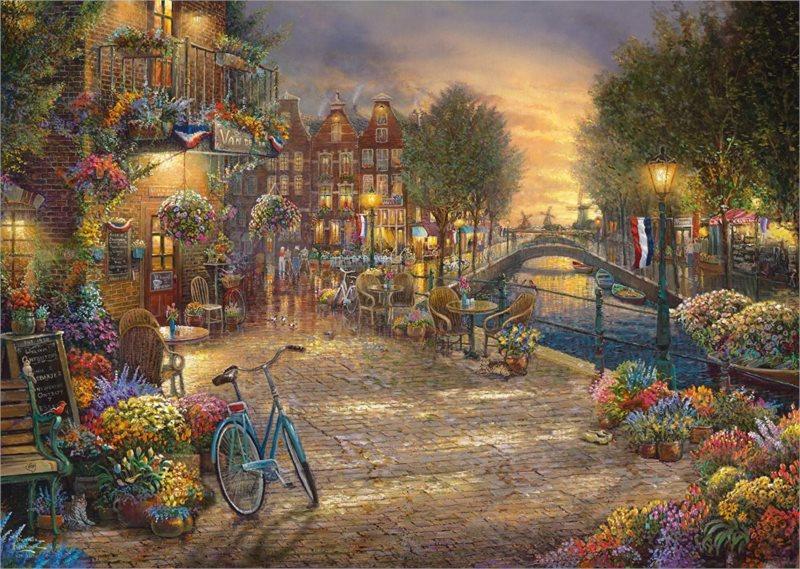 SCHMIDT Puzzle Amsterdam 1000 dílků