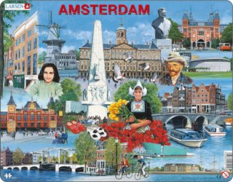 LARSEN Puzzle Amsterdam, Nizozemsko 70 dílků