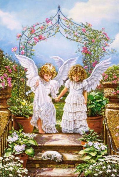 CASTORLAND Puzzle Andělské přátelství 1000 dílků