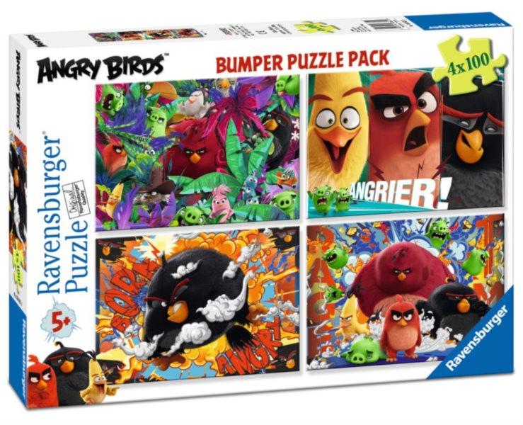 RAVENSBURGER Puzzle Angry Birds 4x100 dílků