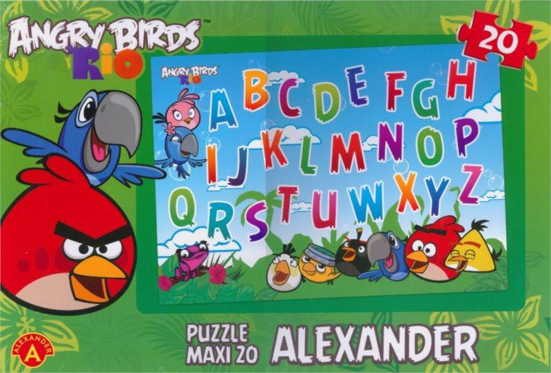 ALEXANDER Puzzle Angry Birds RIO: Abeceda MAXI 20 dílků